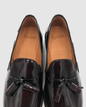 Madrid - Mocassin Leather Tassel Shoes - Antik Burgundy