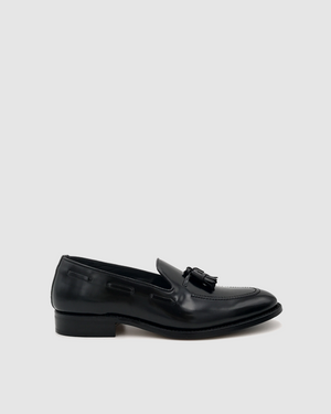 Madrid - Mocassin Leather Tassel Shoes - Antik Black
