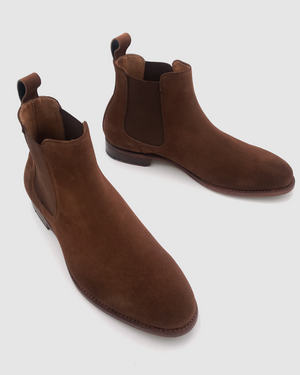 NYC - MTO Chelsea Suede Boots - Whisky