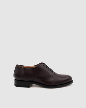 London - Oxford Leather Shoes - Cocoa