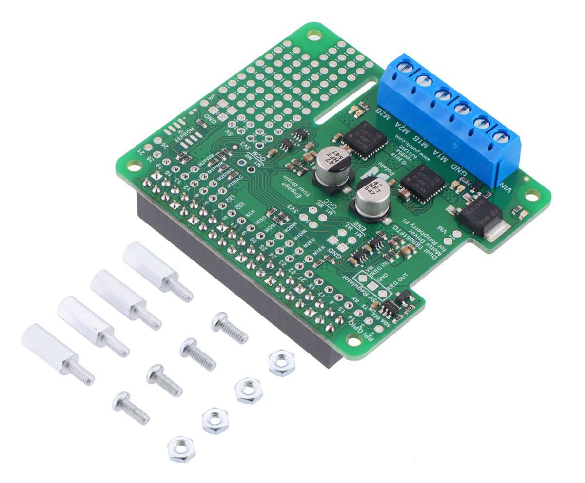 Dual TB9051FTG Motor Driver for Raspberry Pi (Assembled)