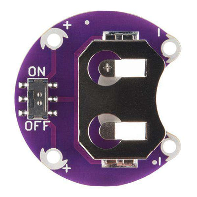 LilyPad - Coin Cell Battery Holder - Switched - 20mm