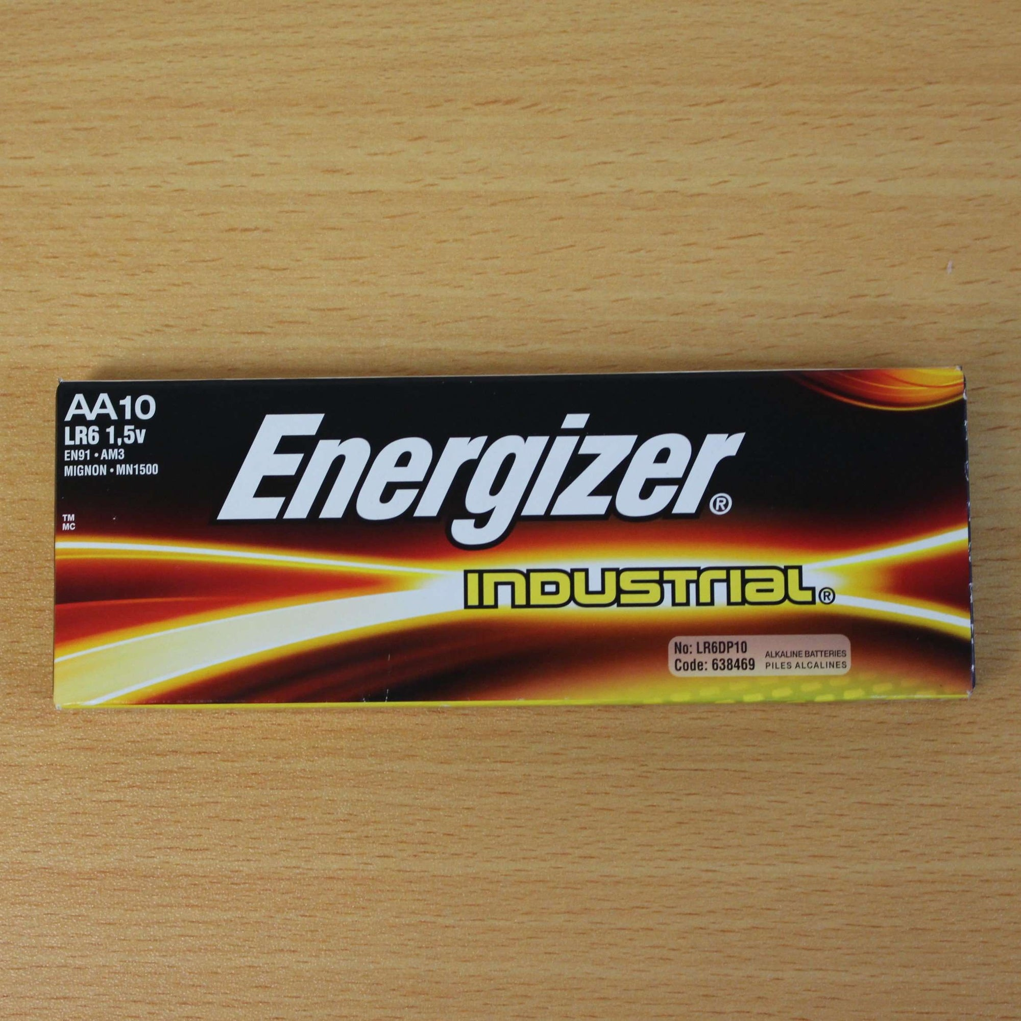 AA Energizer Industrial Batteries - 10 Pack