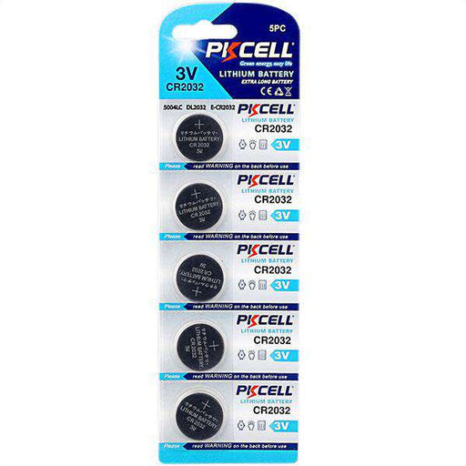 PK Cell Lithium Button Cell CR2032 - 5 Pack