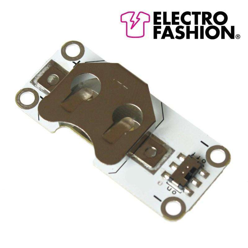 Electro-Fashion, Switched Coin Cell Holder