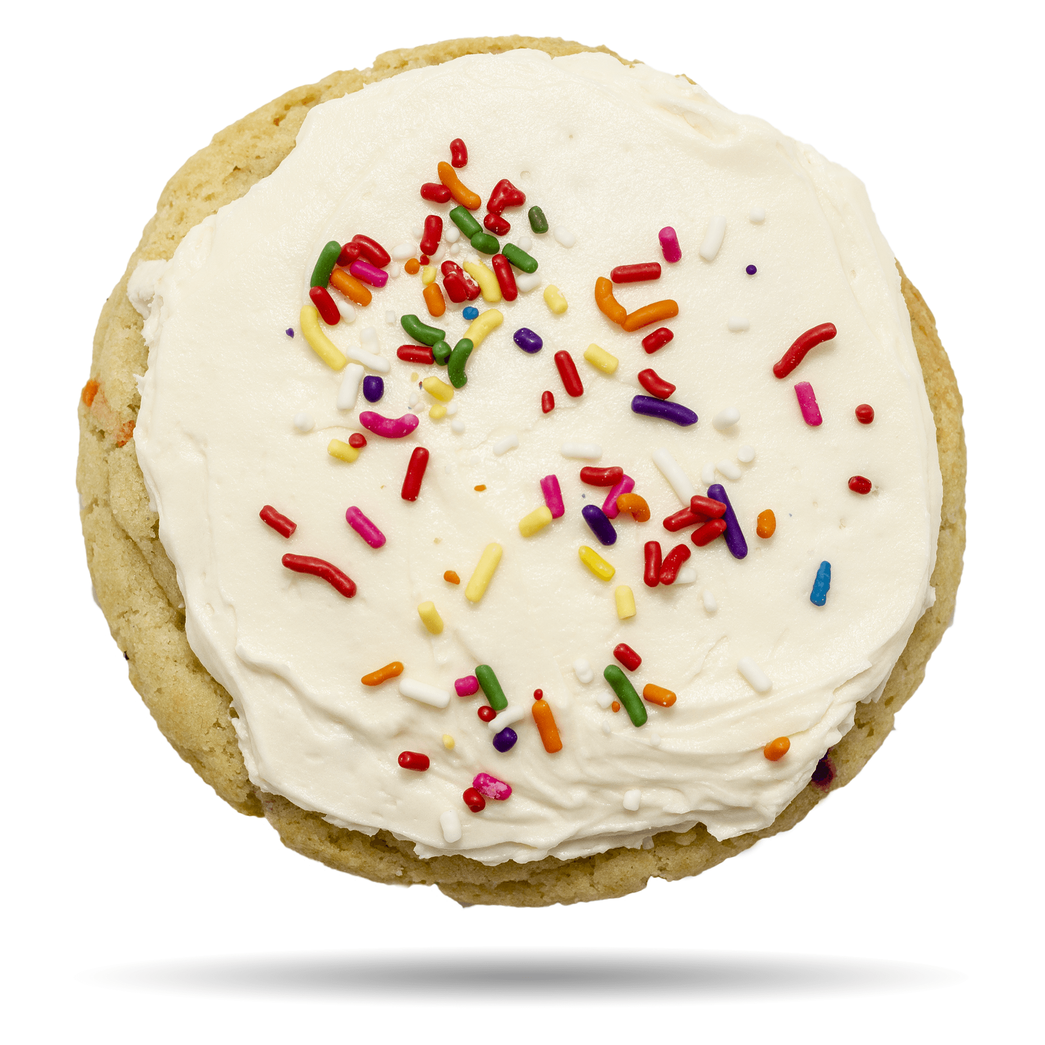 Sugar cookie with sprinkles and fluffy frosting - Elaine Cookie by Rewhipped in Utah