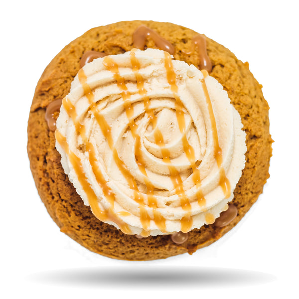 Pumpkin cookie with frosting & caramel - Andie Cookie by Rewhipped in Utah