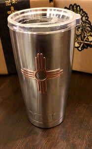 20oz Yeti Tumbler Copper Zia