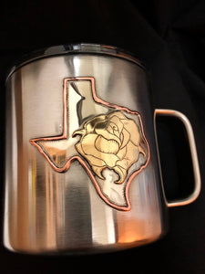 One off Texas Rose Yeti Mug