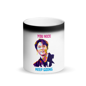 "Jimin ""You Nice"" Magic Matte Black Magic Color Changing  Mug"