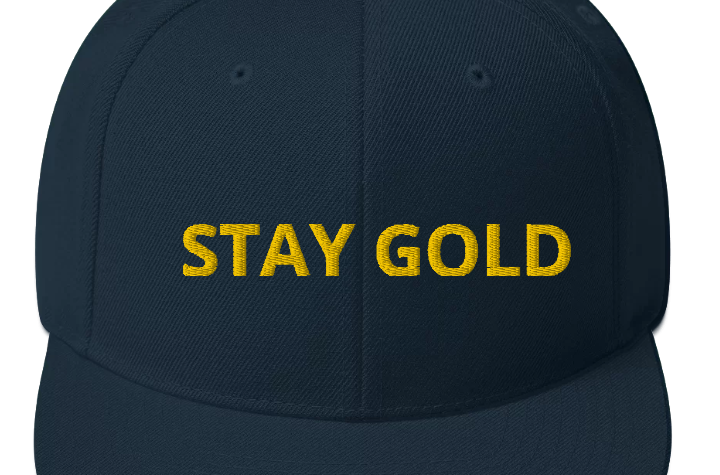 BTS Stay Gold Snapback Hat