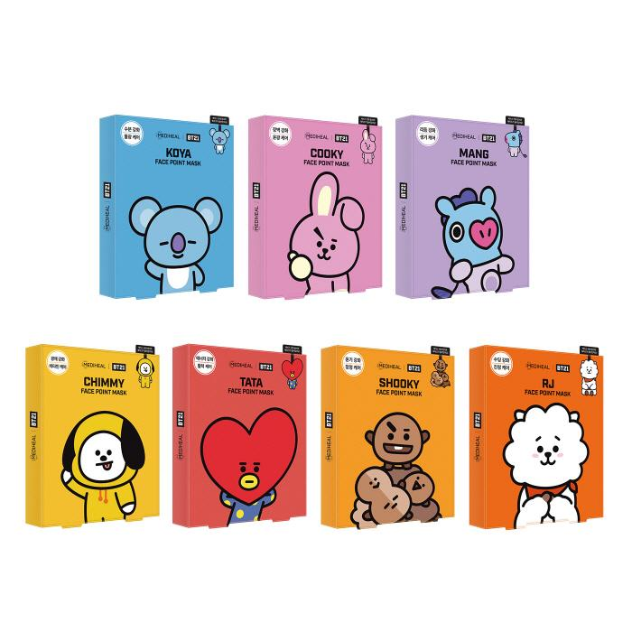Authentic BT21 Mediheal face point mask