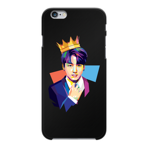 BTS Jungkook Golden Maknae Black Hard Phone Case for Apple and Samsung