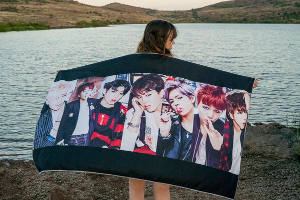 BTS Group Beach Towel