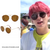 Round Unisex Metal/Brown sunglasses as worn by Jungkook