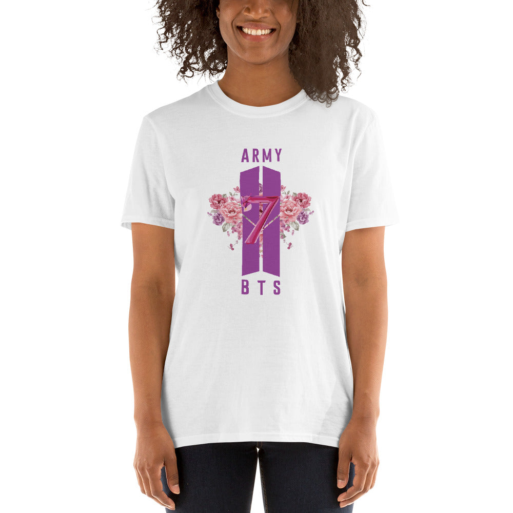 "BTS Anniversary Purple ""7"" Short-Sleeve Unisex T-Shirt"