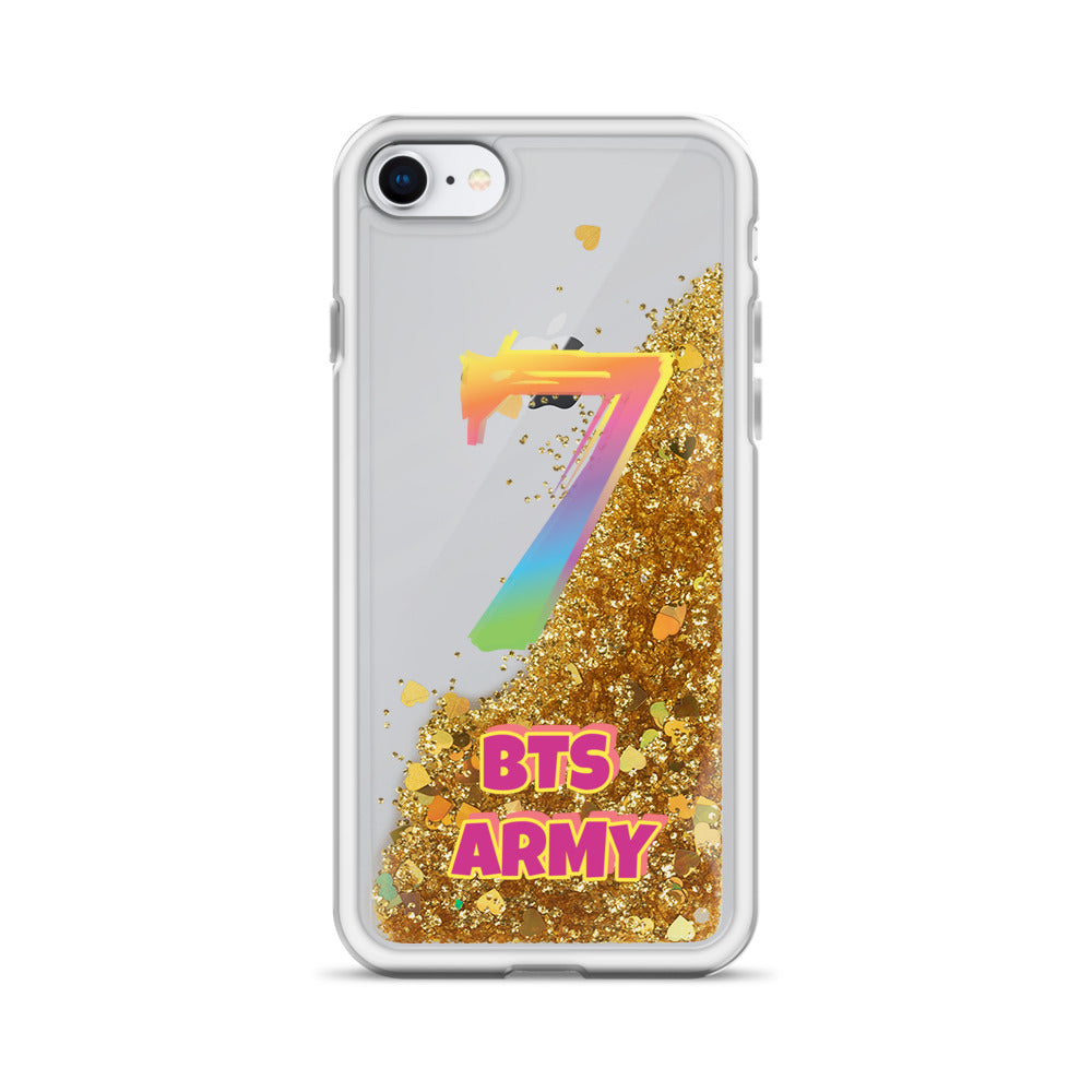 "BTS Army ""7"" Liquid Glitter Phone Case for iPhone"
