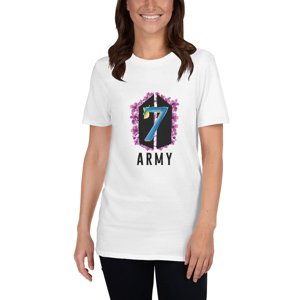 BTS Anniversary Purple Flowers Short-Sleeve Unisex T-Shirt