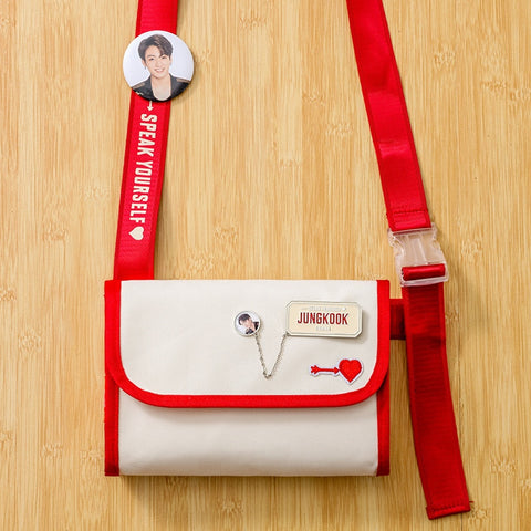 "White Canvas ""Speak Yourself"" Messenger Bag/Purse"