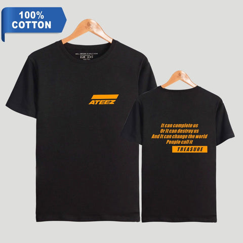 Orange logo Ateez t-shirt