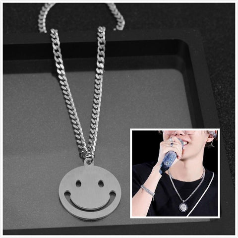"J-Hope ""Sunshine"" smiley necklace"