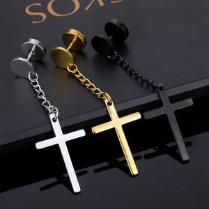 Kpop earring - dangling cross (1pc)