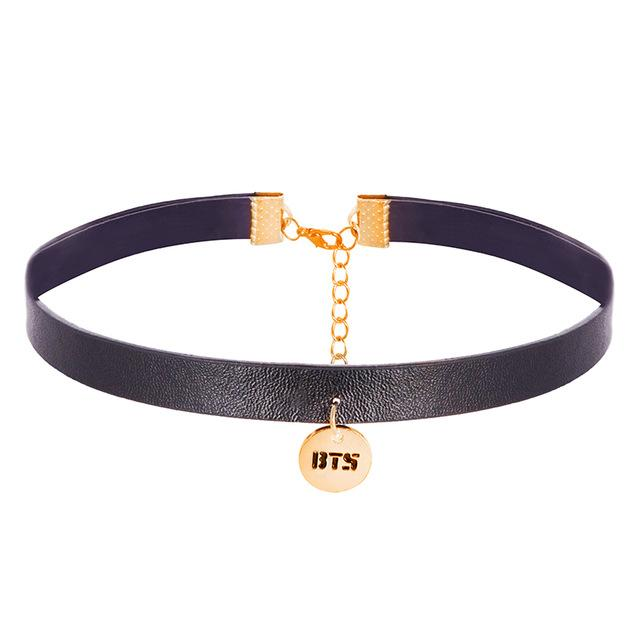 Black BTS Leather Choker
