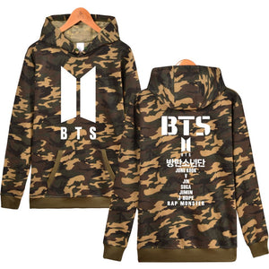 BTS Love Yourself Camouflage ARMY Women/Men Hoodie