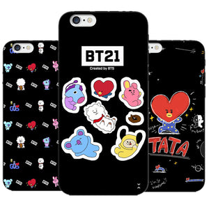 Noir collection BT21 Cartoon phone cases  for iPhone