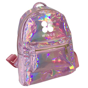 Kpop BTS Wings Shiny Pink BTS  Backpack