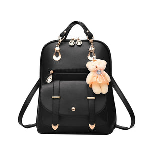 Korean-Style PU leather backpack