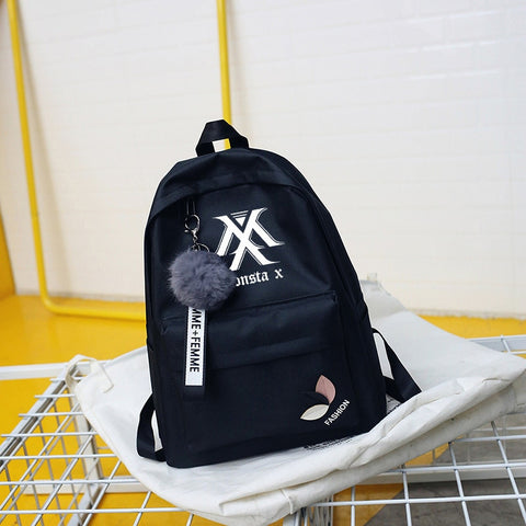 Monsta X  Puffball Backpack Kpop