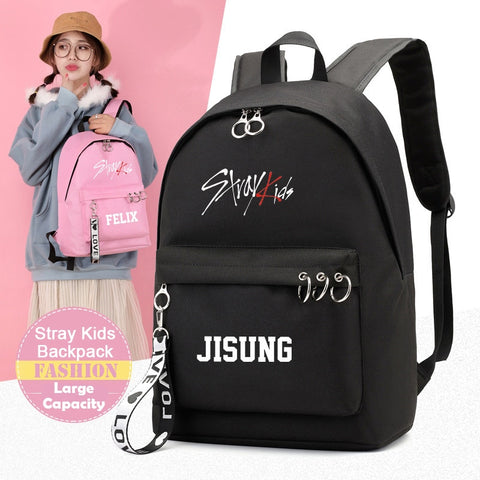 Straykids Member Backpackwith rings and tag