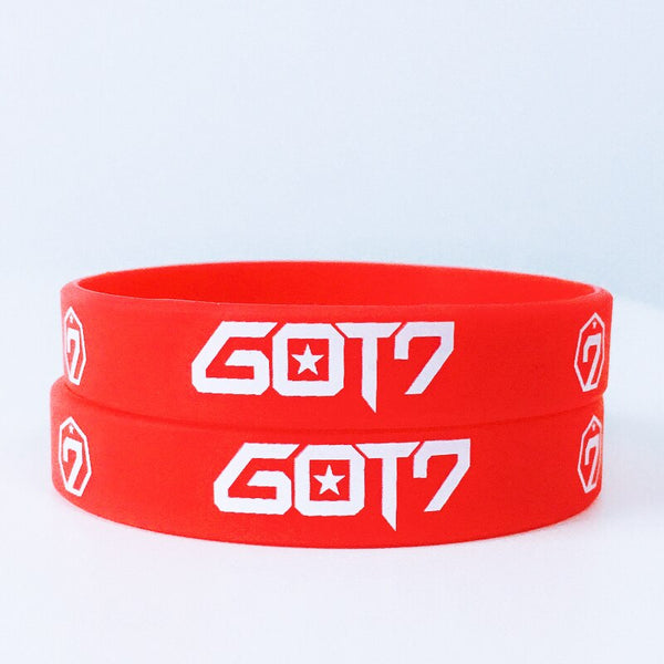 Red GOT7  silicone bracelet