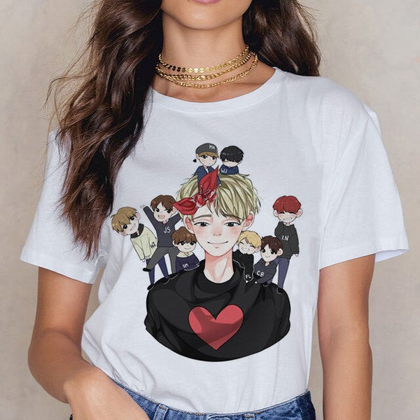 Stray Kids Casual All Member Cartoon T Shirt
