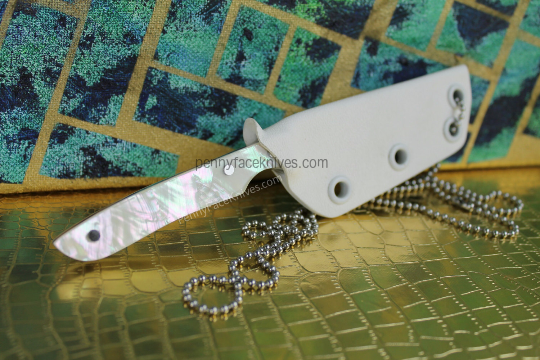 Slim Profile Neck Knife with Angel Wing Handle