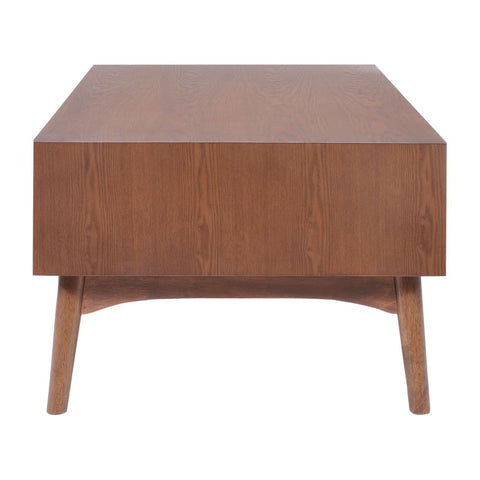 Zuo Modern Design District Coffee Table Walnut 100091 West Dwelling Furniture