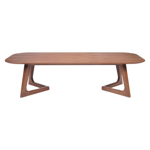 Image of Zuo Modern Park West Coffee Table Walnut 100097 West Dwelling Furniture