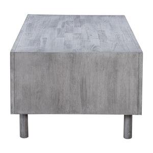 Zuo Modern Raven Cubo Coffee Table Old Gray 100966