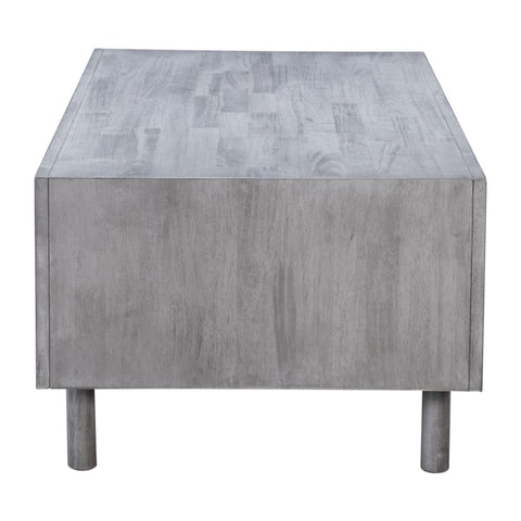 Zuo Modern Raven Cubo Coffee Table Old Gray 100966 West Dwelling Furniture