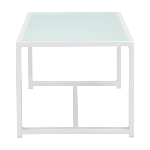 Zuo Modern Golden Beach Coffee Table White 703815 West Dwelling Furniture