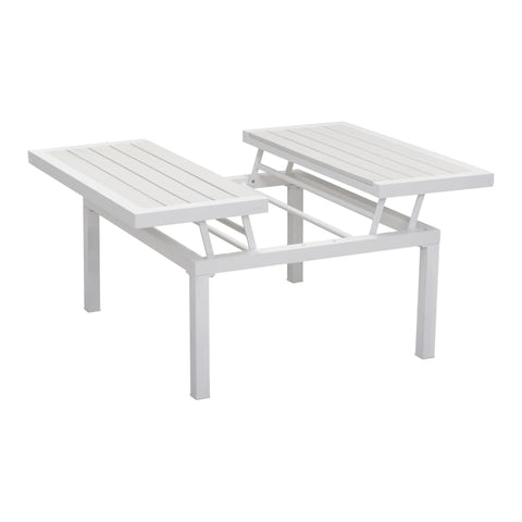 Zuo Modern Santorini Lift-Top Coffee Table White 703893 West Dwelling Furniture