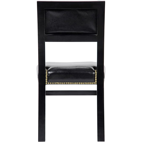 Abadon Side Chair w/Leather, Distressed Black GCHA271D1 West Dwelling Furniture