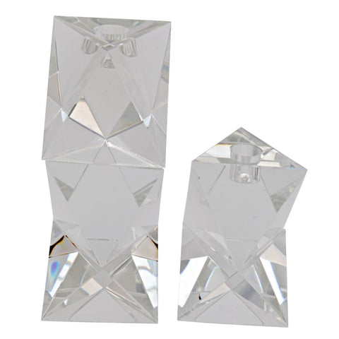 Aerica Decorative Crystal Candle Holder Set Of 2 - Candle Holders