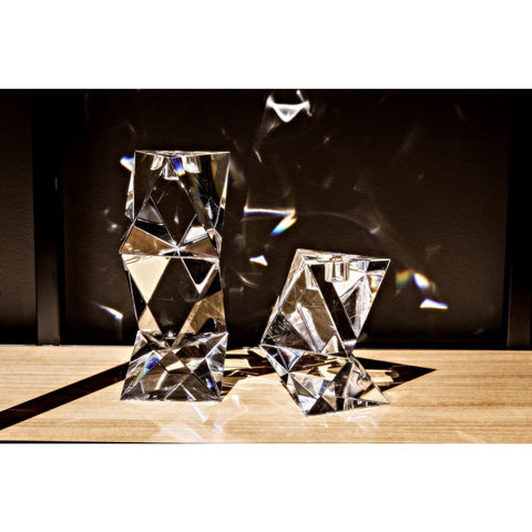 Image of Aerica Decorative Crystal Candle Holder,, Set of 2 YTGLASS-18AB West Dwelling Furniture