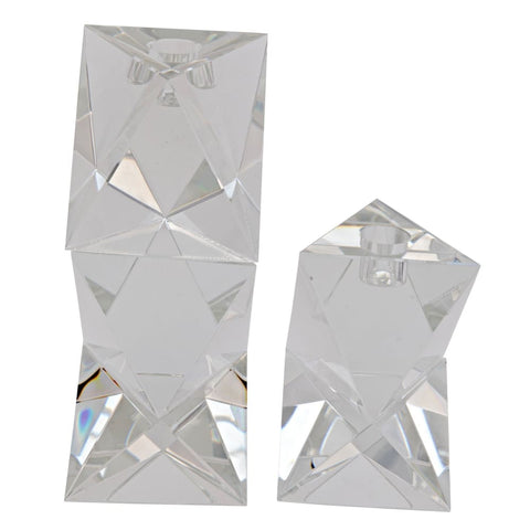 Aerica Decorative Crystal Candle Holder,, Set of 2 YTGLASS-18AB West Dwelling Furniture
