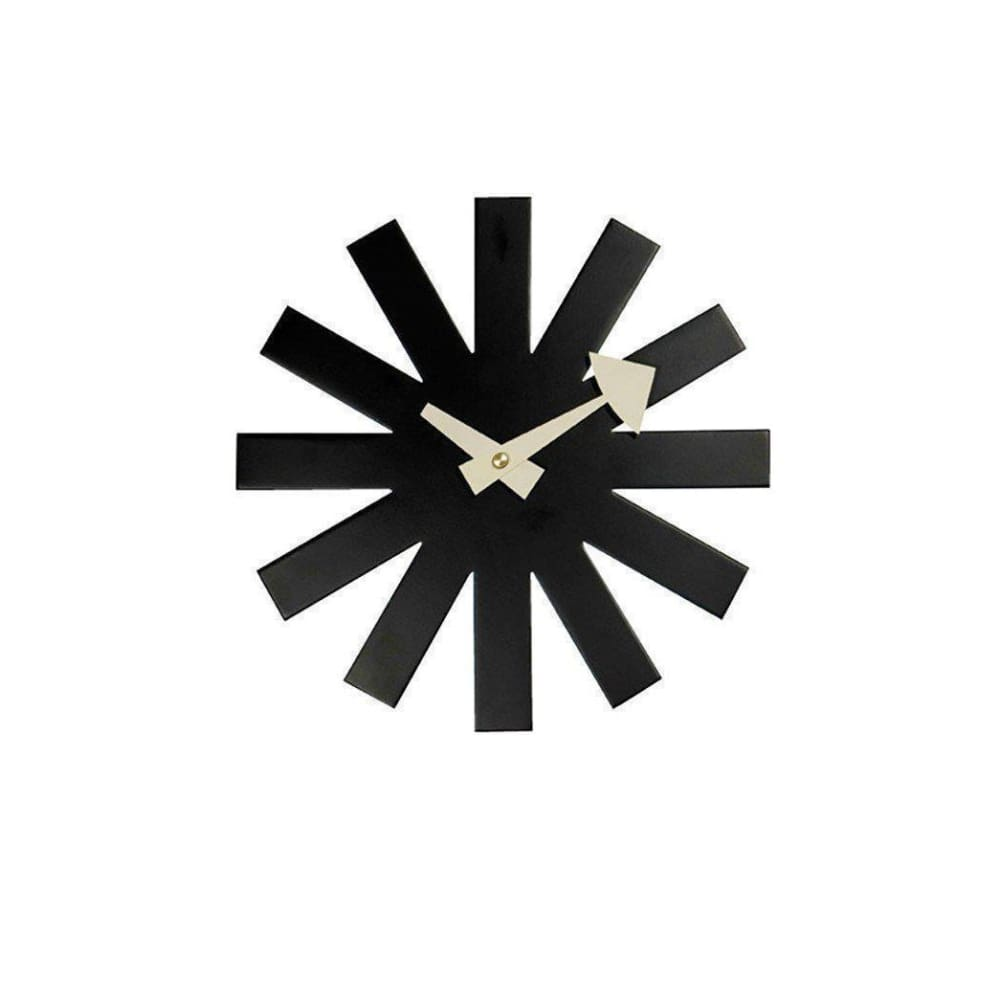 Asterisk Clock - Black - Reproduction - Clocks