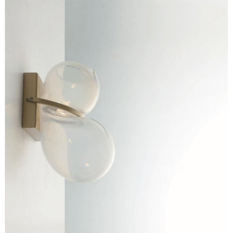 Balloon Hand-Blown Glass & Brass Wall Light - Wall Sconces