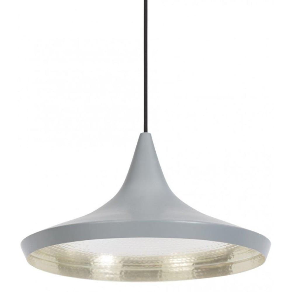 Beat Shade Wide Pendant Lamp - Grey - Reproduction - Pendants
