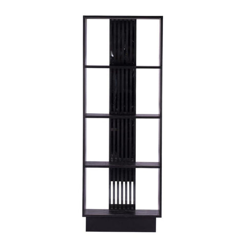Image of Black Bookcase - Shelves